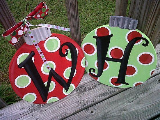 Ornament Door Hanger-- so ready for Christmas time, already!