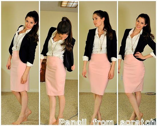 Patternless pencil skirt tutorial. Yup I'm gonna do this