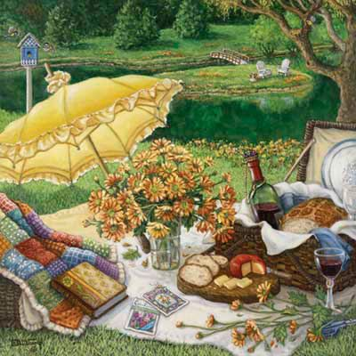 A Lazy Daisy Afternoon by painter Janet Kruskamp.