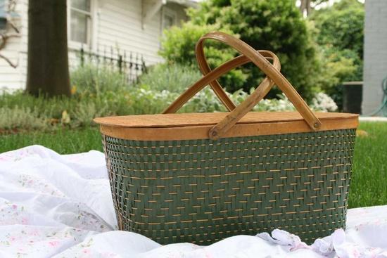 /\ /\ . Central Park Picnic Basket