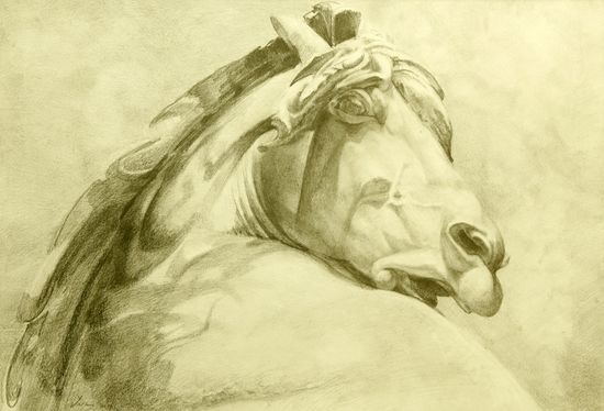 Saatchi Online Artist: Zarko Drincic; Graphite, 2011, Drawing Head