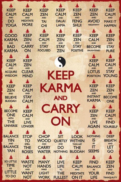 Keep Zen, Keep Calm, Keep Karma  http://patricialee.me