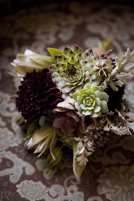 LOVE the color palette and textures from the unique flower choices #flowers #bouquet
