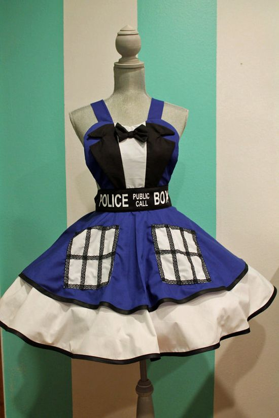 Doctor Who TARDIS Suit Cosplay Apron Pinafore by darlingarmy, $95.00