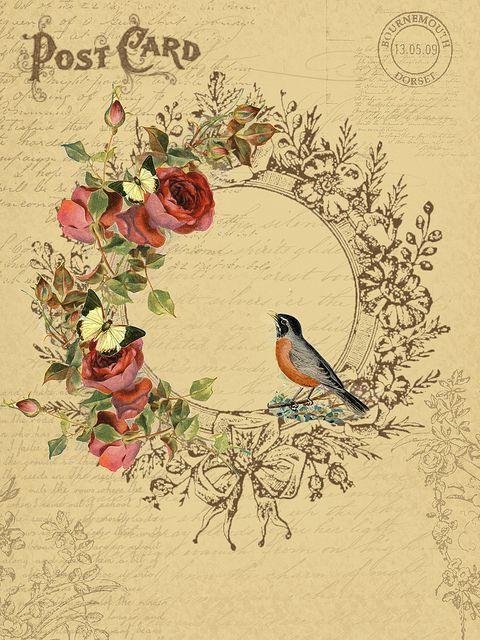 ephemera #paperie #printables #shabbychic #vintage #bird