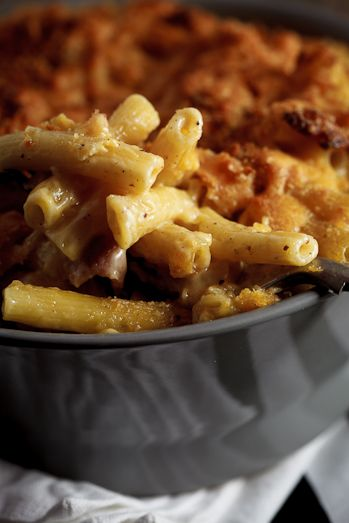 Beer & Bacon Mac and Cheese with Nutmeg and Cheddar....