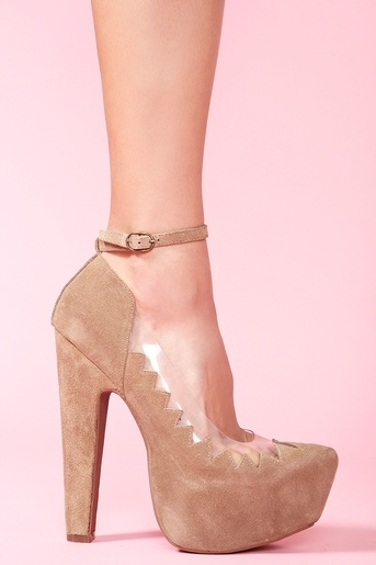 Hilary Platform in Taupe