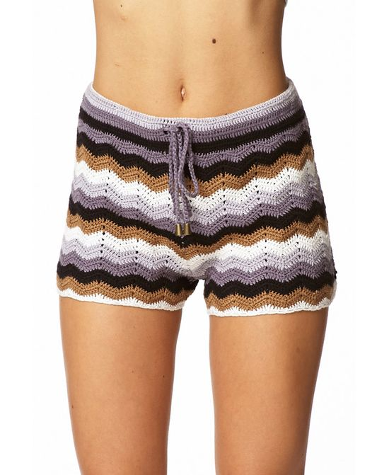 Zigzag Knit Shorts