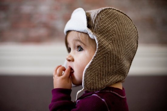 Wee Wool Bomber Hat for Baby Toddler Kids - Made to Order. $38.00, via Etsy.