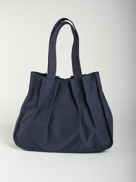 Vegan BLUE shoulder bag, Laptop 15 bag, feminine purse, medium size bag, everyday student bag - pleats. $79.00, via Etsy.
