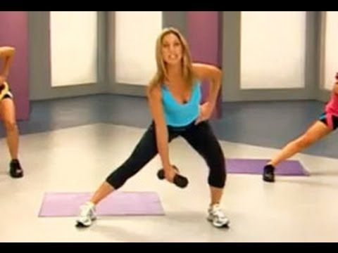 "5 Minute Hip Workout with Denise Austin will slim the hips, tone the thighs, and firm the buns. Fight saddlebags and lose inches from your lower body with these muscle toning exercises. Try this workout at home and comment to let us know how you did.     This workout is from Denise Austin's DVD ""Hit The Spot: 10 five-minute Target Toners""."