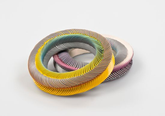 Paper Bracelets by Nel Linssen, 2012 represented at COLLECT by Gallery Ra