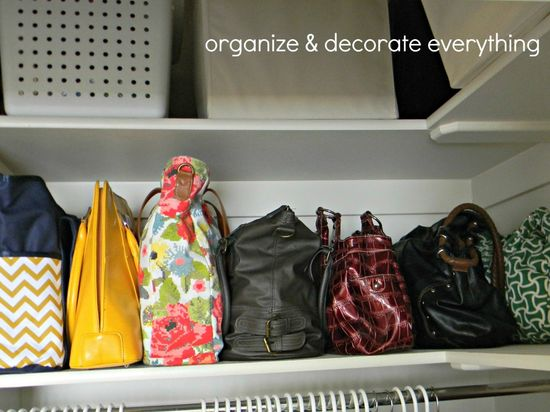 organized handbags #organization #closet #purse