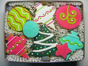 Trim The Tree Decorated Cookies Gift Tin
