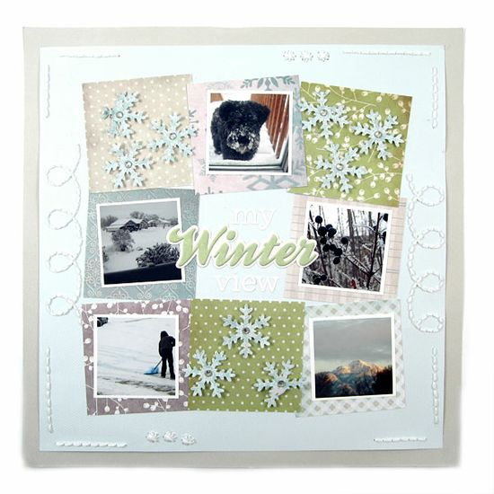 Winter featuring Winter Frost from We R Memory Keepers - Scrapbook.com