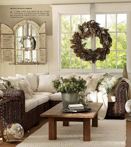 Decorate with old windows     #Reused, #Vintage, #Wood