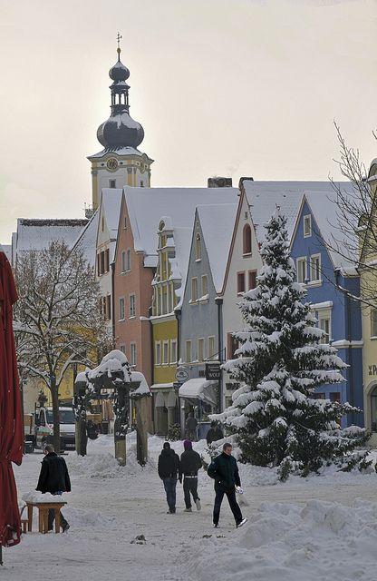 White days in Weiden, Bavaria, Germany