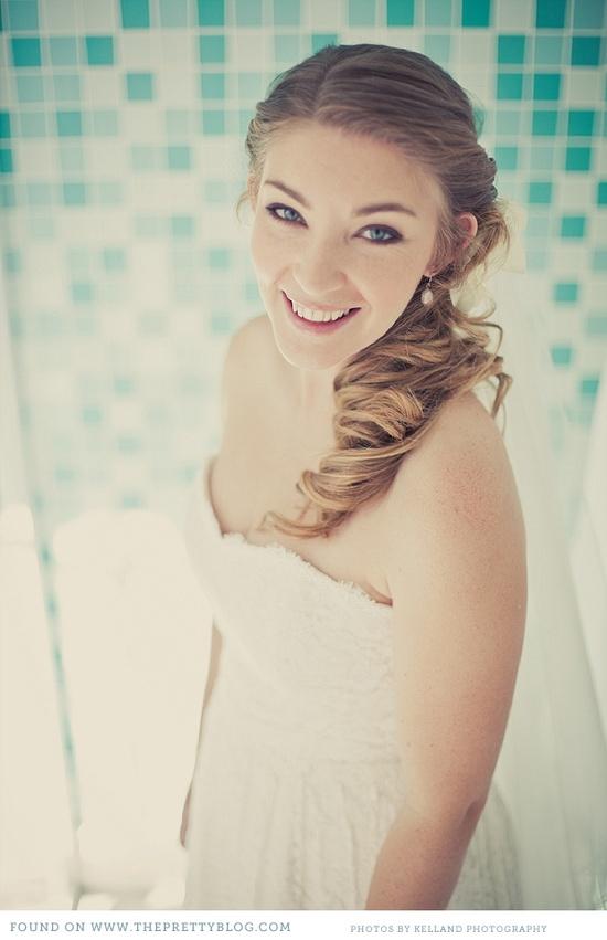 Bridal hair. Image: Kelland Photography