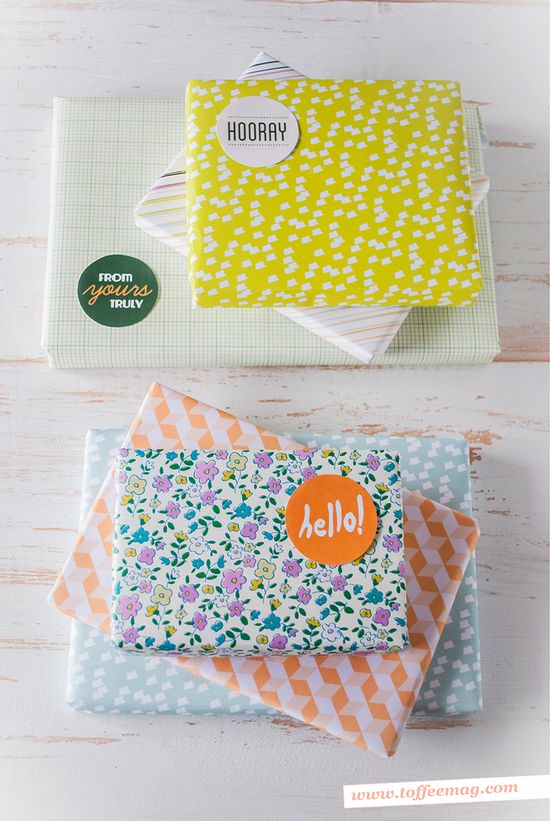 Cute printable gift wrap