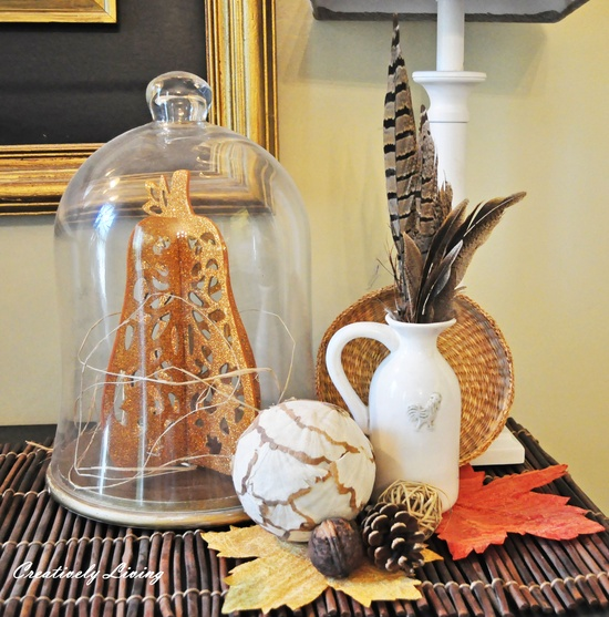 Creatively Living: Decorating with leaves