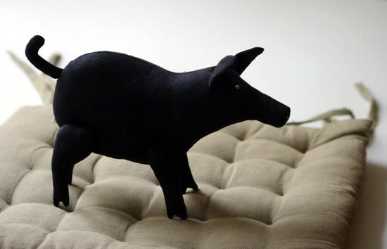 The black pig by adatine on Etsy, $30.00