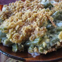 Grandma's Green Bean Casserole ~ Nice alternative to the standard mushroom soup and fried onion version!