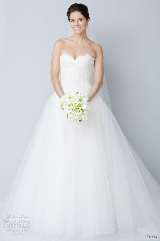 Theia spring 2013 strapless wedding dresses