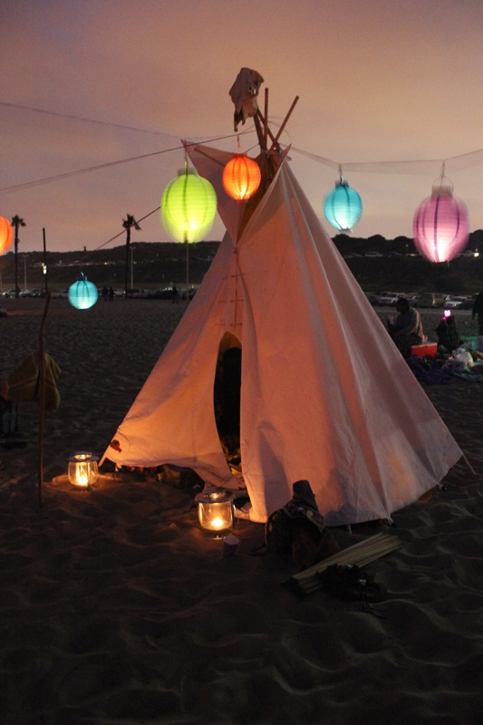 Caitlin's Birthday Party at the Beach. Loved the teepee! Photo by Marcia Prentice http://www.marciaprentice.com/