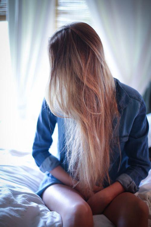 Beautiful long, blonde hair.