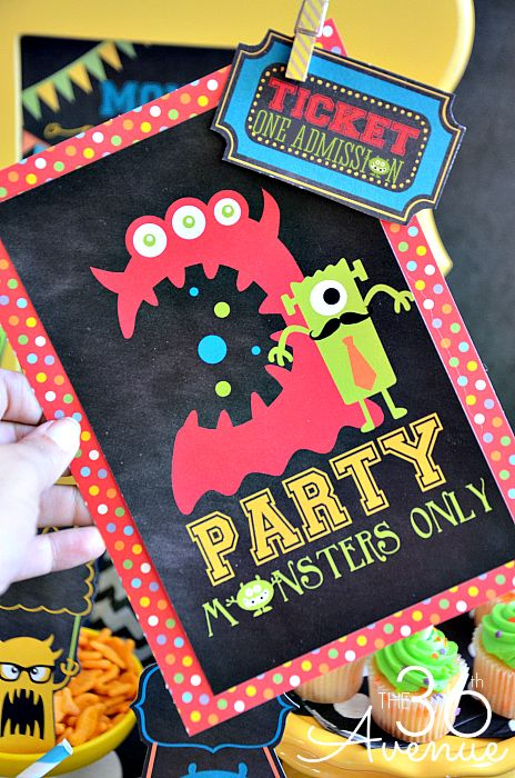 Monster Party and Free Printables at the36thavenue.com So fun!