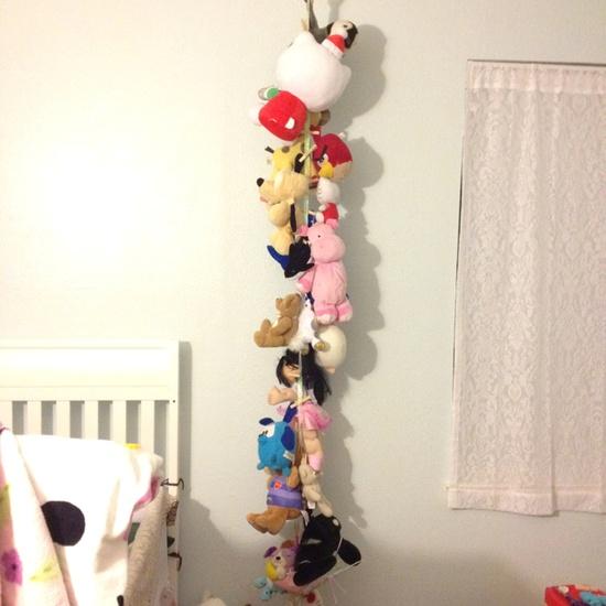 My DIY Stuffed animal organizer