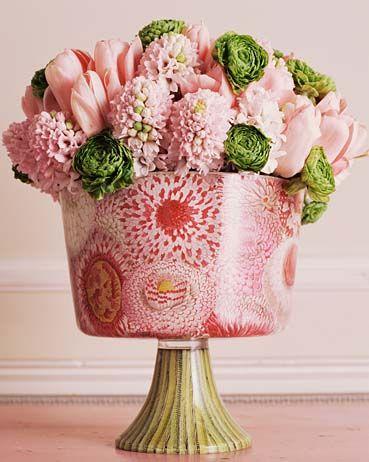 Pink Hyacinth flower, love this arrangement!