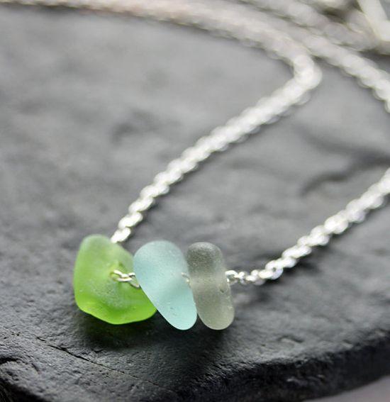 Sea glass necklace. :)