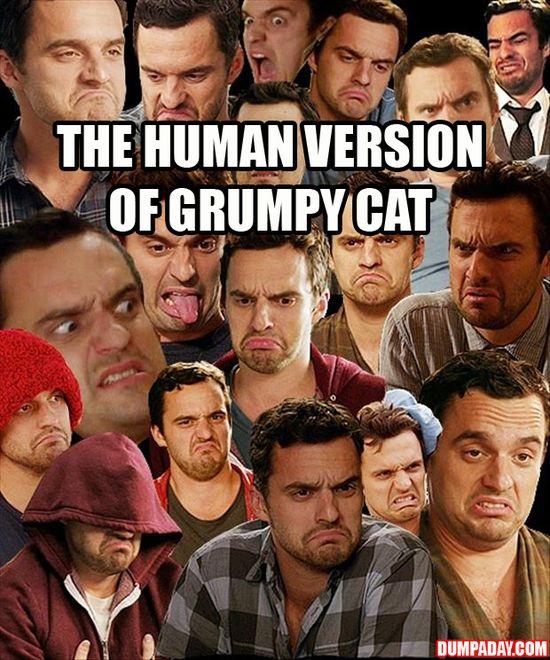 Grumpy Nick miller