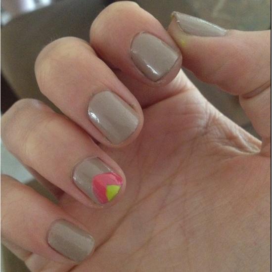 free hand chevron nail design