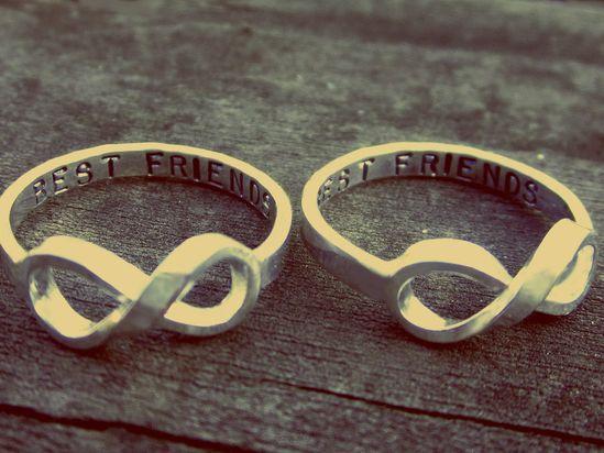 best friend infinity rings! Love this
