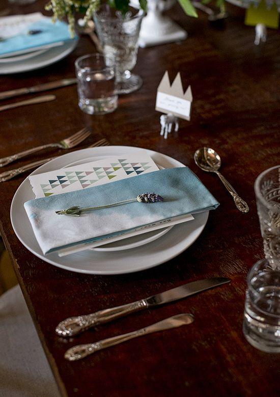 ombre napkins