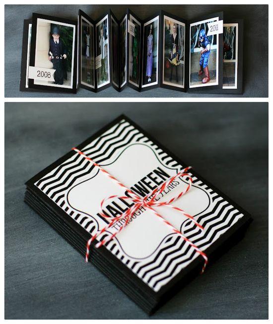 Halloween through the years - a mini album - plus free printables -