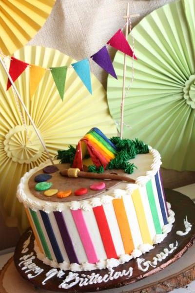 Camp Arts and Crafts Rainbow Party via Karas Party Ideas
