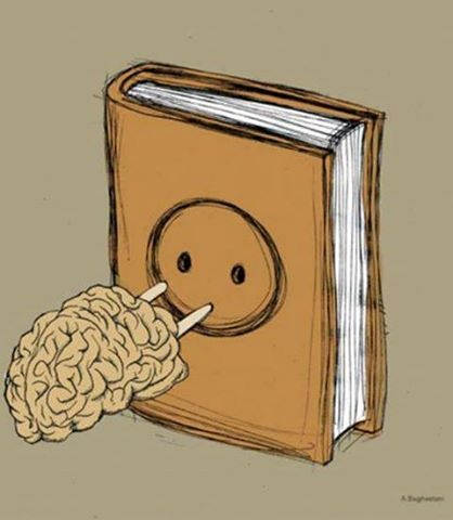 Just plug your brain into a book.
