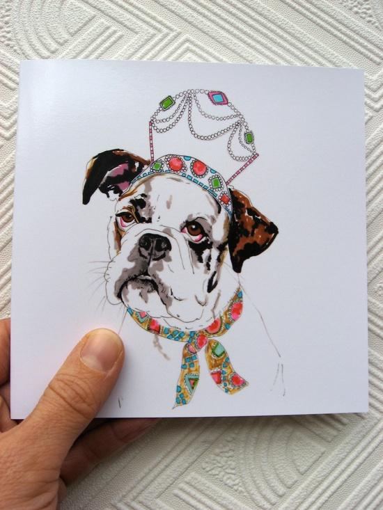 Queenie  Blank Greetings Card by StudioLegohead on Etsy.
