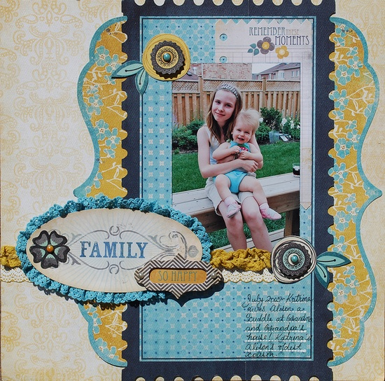 #papercraft #scrapbook #layout My Mind's Eye Stella & Rose