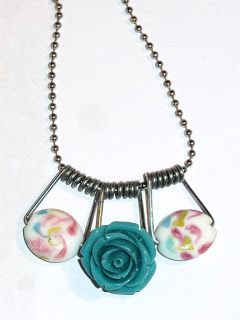 DIY necklace made from beads and clothespin springs live. love. scrap.