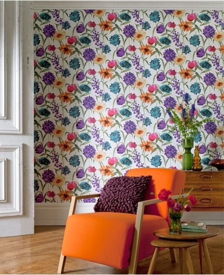 Create bloomin' beautiful interiors with floral wallpaper
