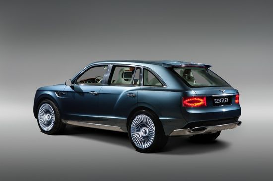The Bentley EXP 9 F all-wheel drive luxury Sport Utility Vehicle concept