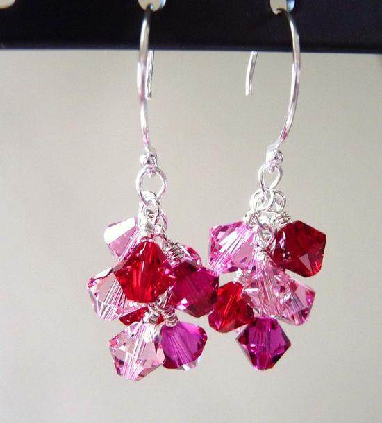 Swarovski Cluster Crystal Earrings