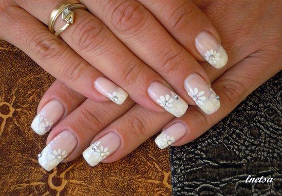 Bridal nail art - Nail Art Gallery by NAILS Magazine