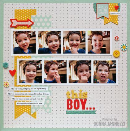 this boy... {Pebbles} - Scrapbook.com