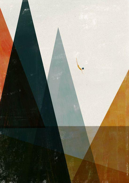 Nadadora print by blancucha on Etsy