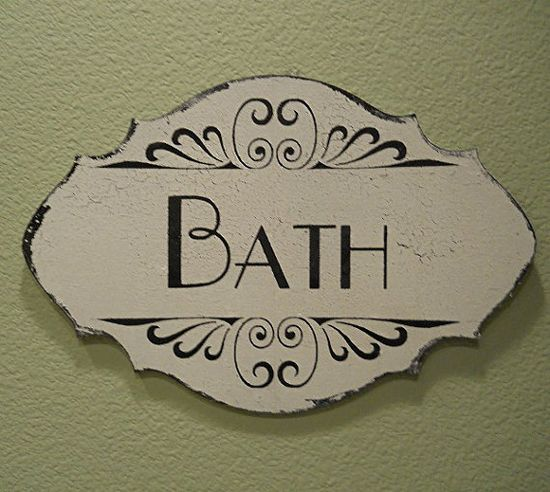 BATH BATHROOM Sign for Home Wall Decor Vintage  by PucoBesh, $21.00